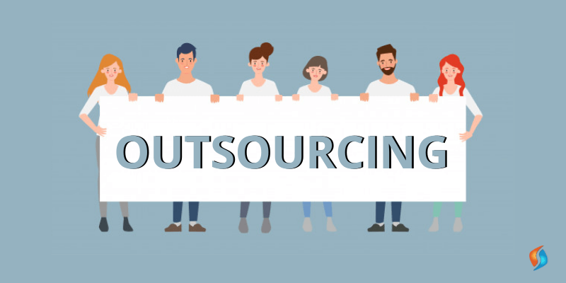 What is outsourcing in a business